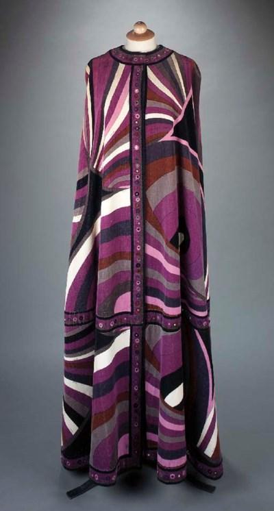 A magnificent silk velvet cape