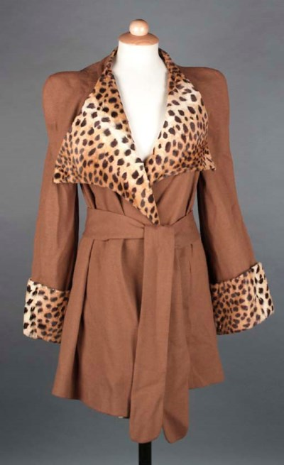 A short coat, of coffee colour