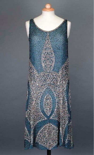 A cocktail dress of Saxe blue