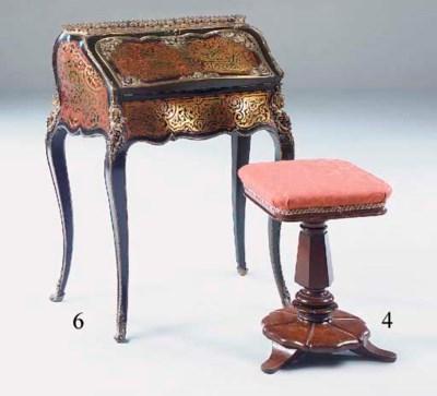 A Victorian mahogany piano sto