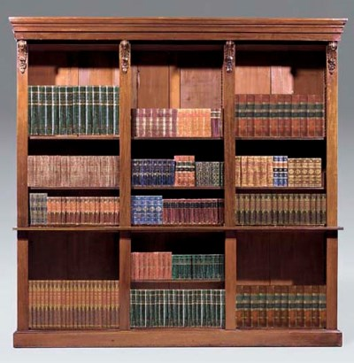A mahogany open bookcase, 19th