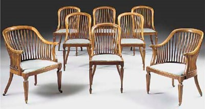 A set of eight late Victorian
