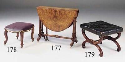 A Victorian x-frame stool