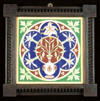A TILE designed by A W N Pugin
