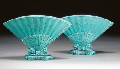 A PAIR OF FAIENCE VASES by Bur