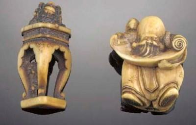 An ivory netsuke of an immorta