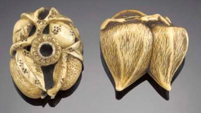 An ivory netsuke of a hozuki 1