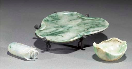 A chinese jadeite shallow dish