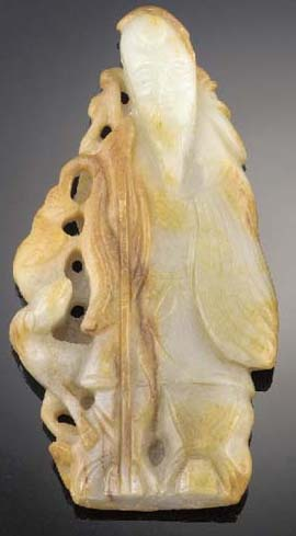 A mottled jade model of Shoula