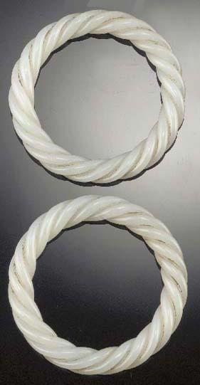 A pair of white jade bangles 1