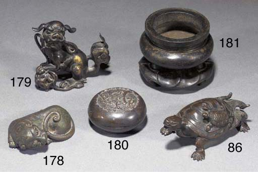 A bronze tiger weight Ming Dyn