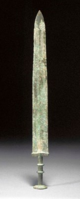 A Chinese archaic bronze sword