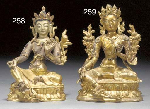 A Sino Tibetan gilt bronze Tar