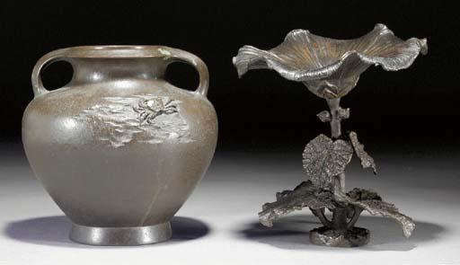 A Japanese bronze globular vas