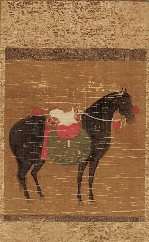 A Japanese scroll painting 18t