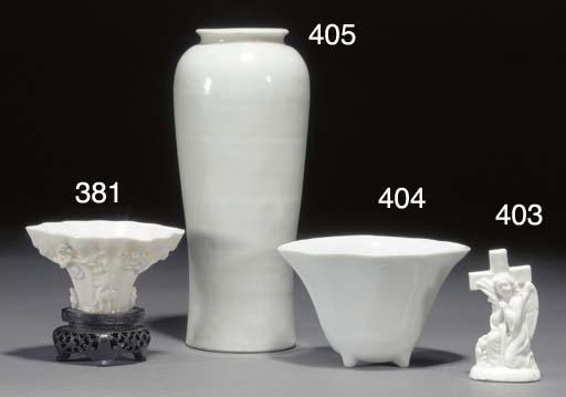 A blanc de chine libation cup
