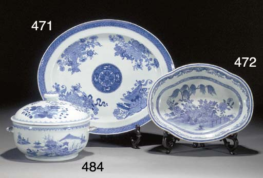 A Chinese blue and white Fitzh