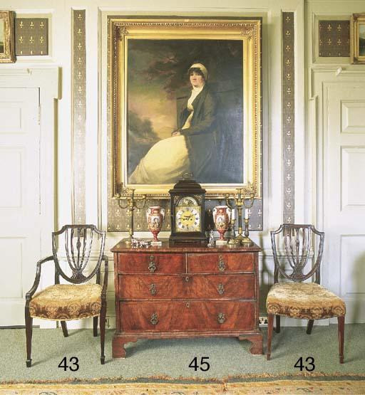 A George III mahogany elbow ch
