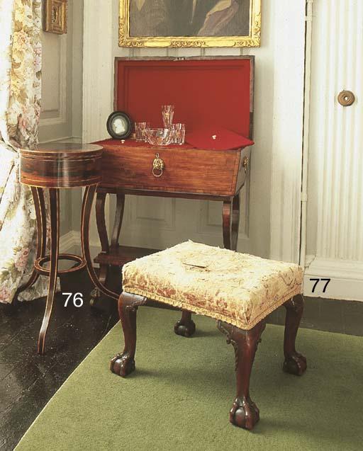 A George II mahogany stool