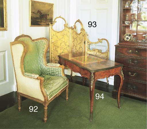 A Victorian rosewood and gilt-
