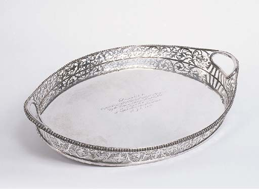A Scottish silver two-handled
