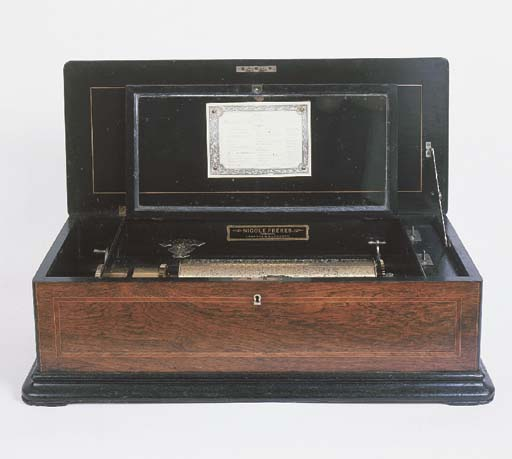 A Victorian rosewood cased mus