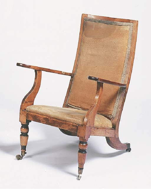 A George IV reading chair