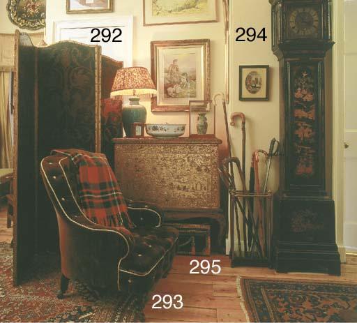 A Victorian mahogany easy armc