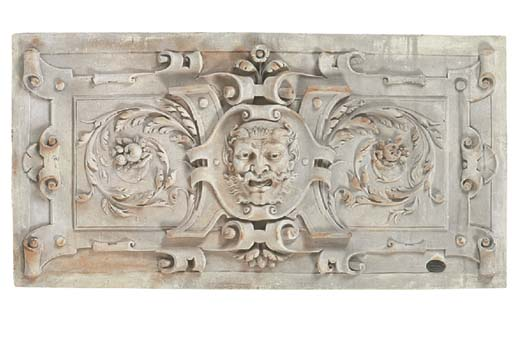 A plaster relief panel