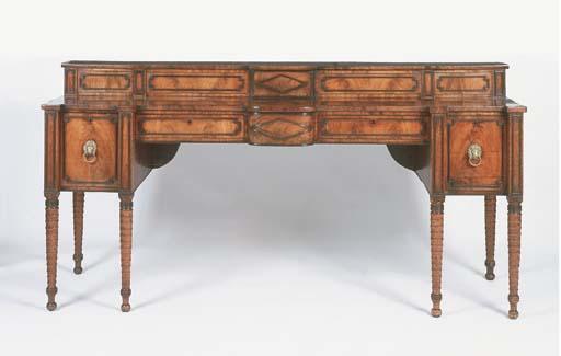 A Scottish Regency mahogany an