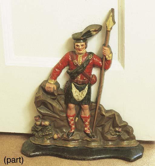 A Victorian polychrome cast ir