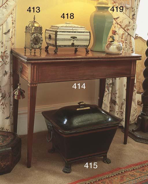 A Dutch mahogany tea-table