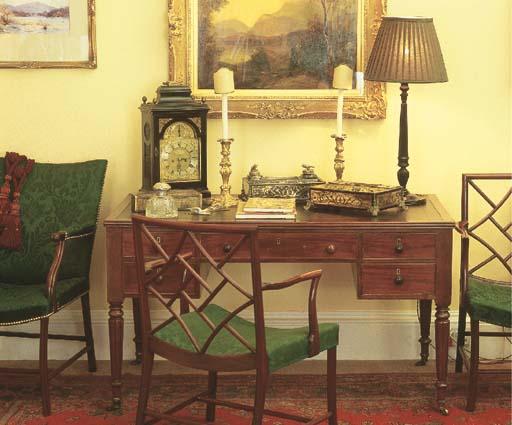 A Victorian mahogany library t