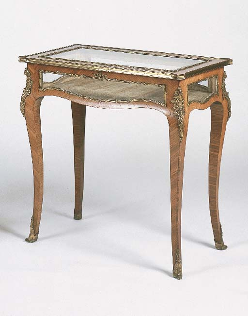 A late Victorian kingwood and