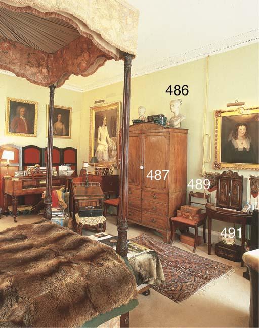 A George III mahogany D-shaped