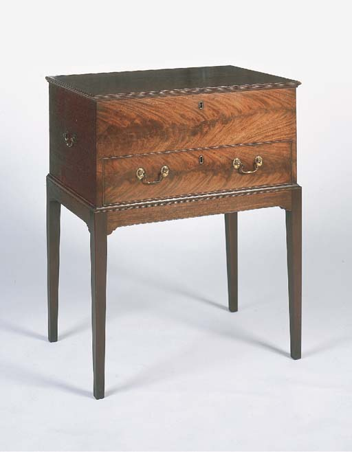 A mahogany box on stand