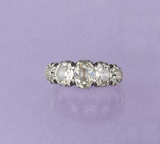 A 19th century diamond five st