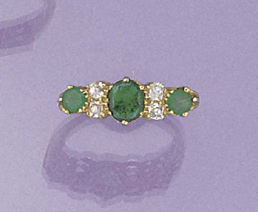 An emerald and diamond seven s