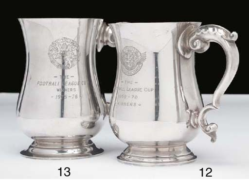 A white-metal League Cup Winne