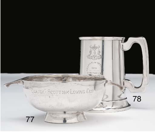 A silver two-handled quaich, i