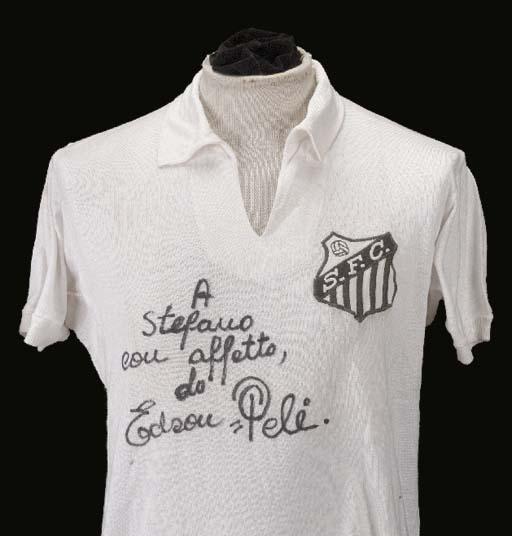 A white Santos short-sleeved s