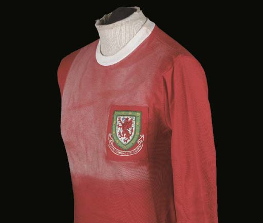 A red Wales International shir
