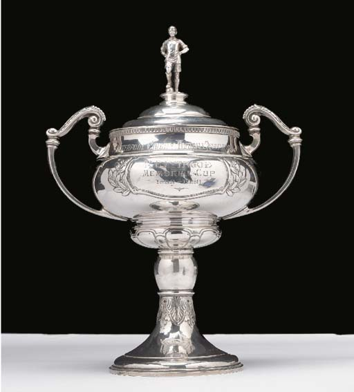 A silver two-handled trophy, t