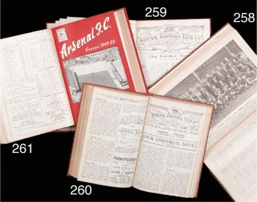 A bound volume of Arsenal matc