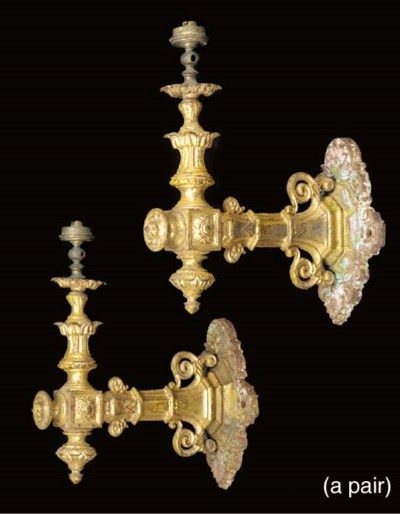 A pair of Victorian gilded cas