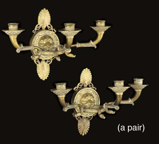 A pair of Directoire ormolu th