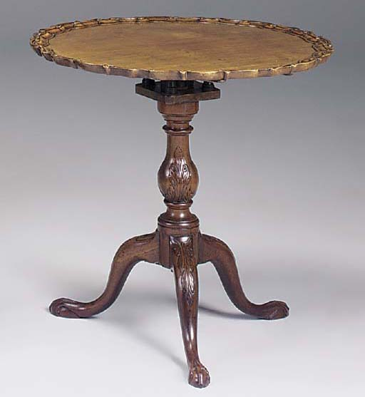 A MAHOGANY OCCASIONAL TABLE, 1