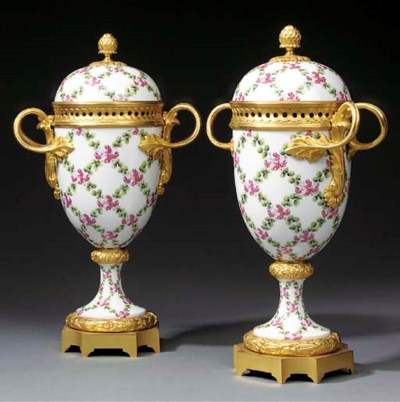 A pair of Continental ormolu m