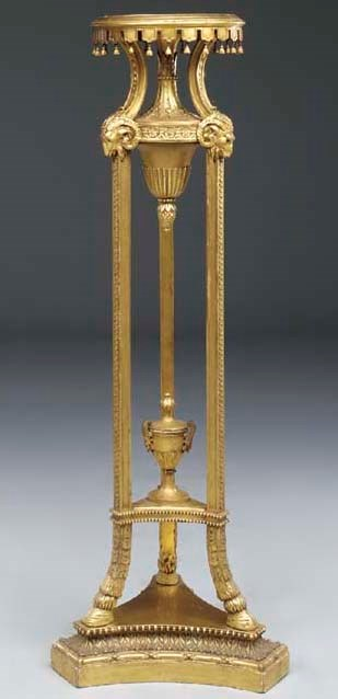 A Continental giltwood torcher