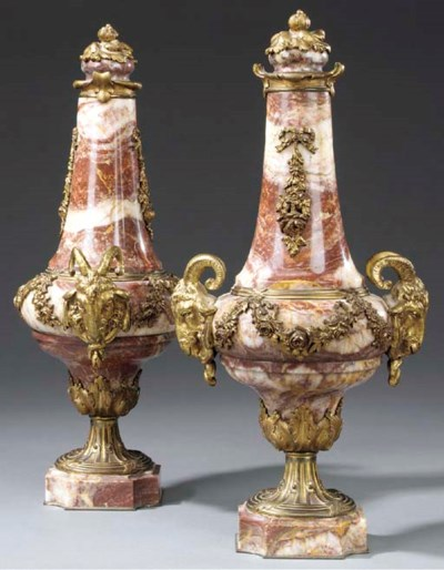 A pair of French variegated re